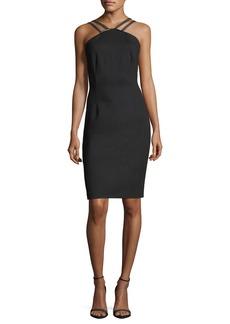 Cisco Halter-Neck Sheath Dress