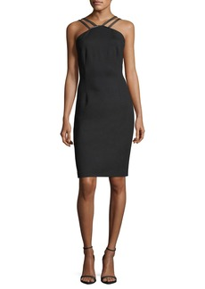 Elie Tahari Cisco Halter-Neck Sheath Dress