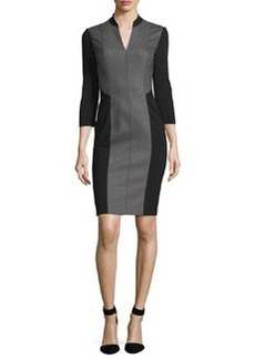 Elie Tahari Citrine 3/4-Sleeve Colorblock Dress