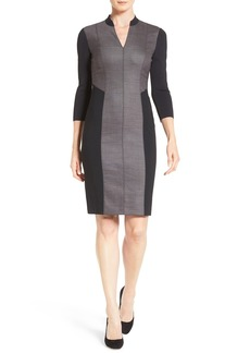 Elie Tahari 'Citrine' Mixed Media Sheath Dress