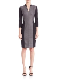 Elie Tahari Citrine Wool Blend Sheath Dress