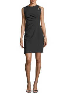 Elie Tahari Clarette Sleeveless Stretch-Wool Dress