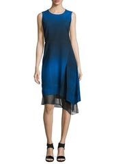 Elie Tahari Clarissa Sleeveless Asymmetric Dress