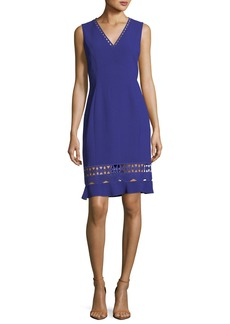 Elie Tahari Clarissa Sleeveless Fluid-Crepe Dress