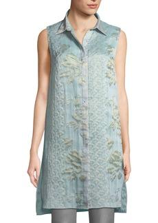 Elie Tahari Clark Floral-Embroidered Blouse