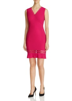 Elie Tahari Clarrisa Fluted Hem Dress