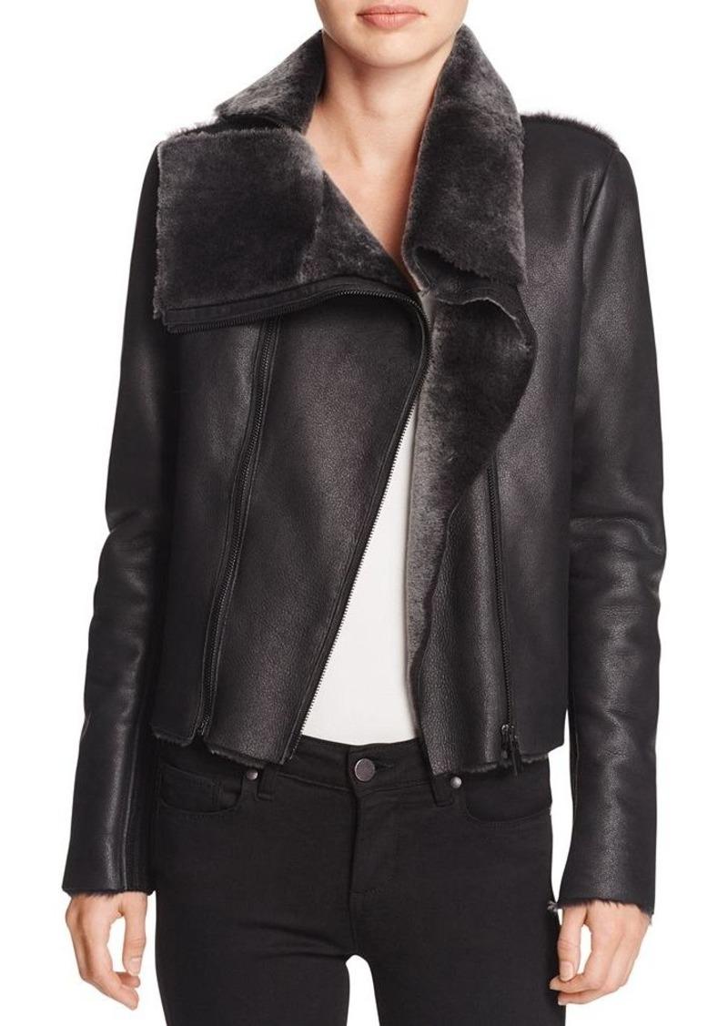 Elie Tahari Claudette Shearling Jacket