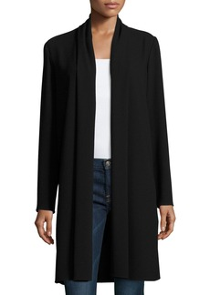 Elie Tahari Coley Long Silk Topper Coat