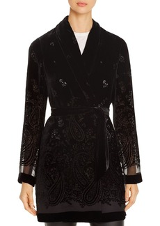Elie Tahari Coley Velvet-Burnout Jacket