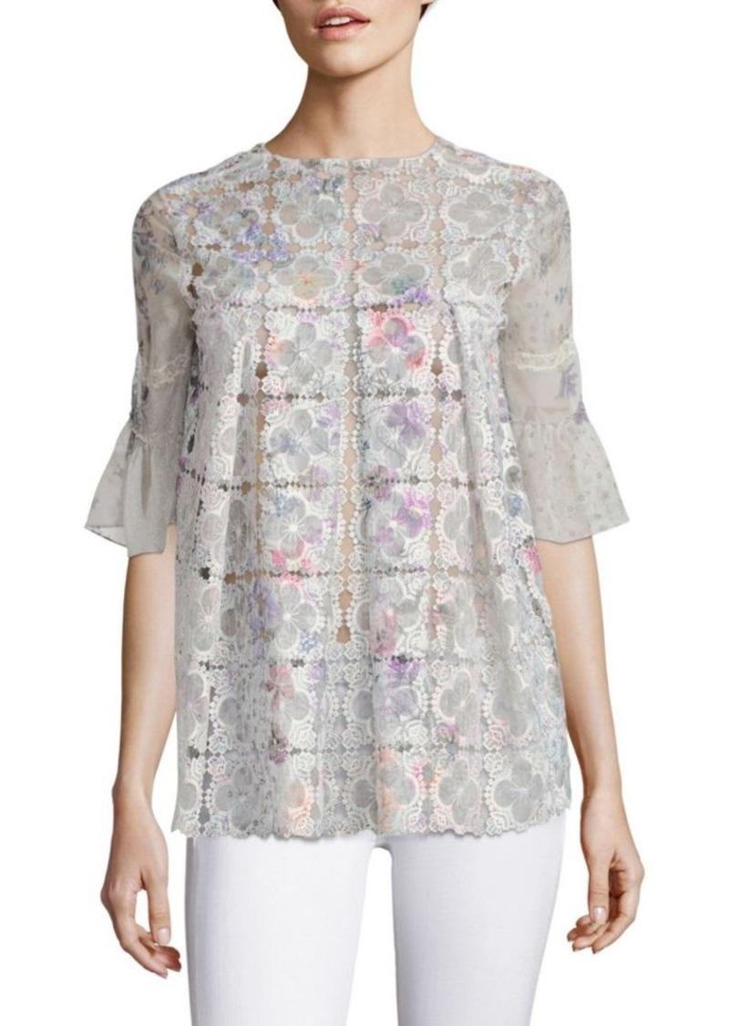 0b247332c33e Elie Tahari Elie Tahari Consuela Floral Lace Blouse   Dress Shirts