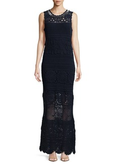 Elie Tahari Crochet Cotton Floor-Length Dress