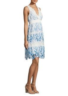 Elie Tahari Crocheted Lace Dress