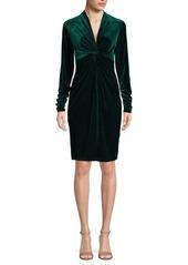 Elie Tahari Cynthia Velvet Twist Dress