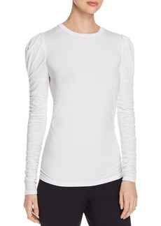 Elie Tahari Daisy Ruched Knit Top