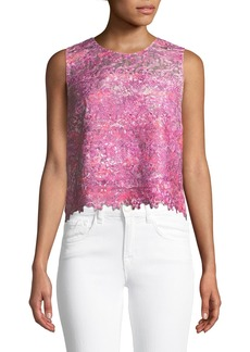 Elie Tahari Dakotra Watercolor-Print Blouse