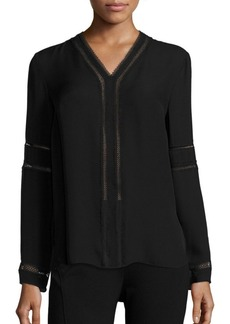 Elie Tahari Damaris Silk Blouse