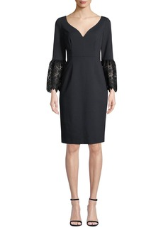 Elie Tahari Danielle 3/4-Sleeve Sheath Dress