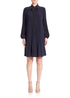 Elie Tahari Dara Silk Pleated Dress