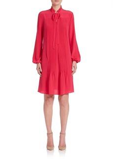 Elie Tahari Dara Silk Pleated Dress