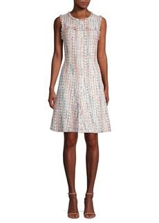 Elie Tahari Dean Tweed A-Line Dress