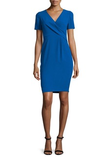 Elie Tahari Deandra Short-Sleeve Crepe Sheath Dress