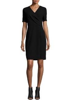 Elie Tahari Deandra Short-Sleeve Crepe Sheath Dress
