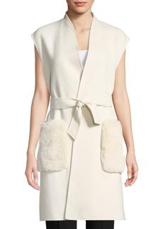Elie Tahari Deanna Fur-Pocket Vest