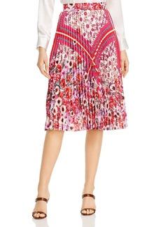 Elie Tahari Delilah Pleated Floral-Print Skirt