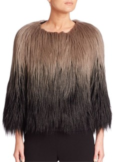 Elie Tahari Delma Faux Fur Ombre Jacket