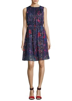 Elie Tahari Demetria Sleeveless Printed Silk-Blend Dress