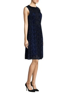 Elie Tahari Demetria Velvet Shift Dress