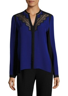 Elie Tahari Denise Silk Blouse