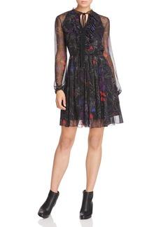 Elie Tahari Desi Floral Silk Dress