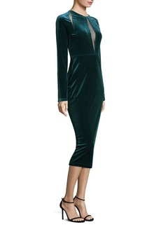 Elie Tahari Devani Velvet Sheath Dress