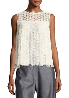 Elie Tahari Dionne Sleeveless Cotton Lace Blouse