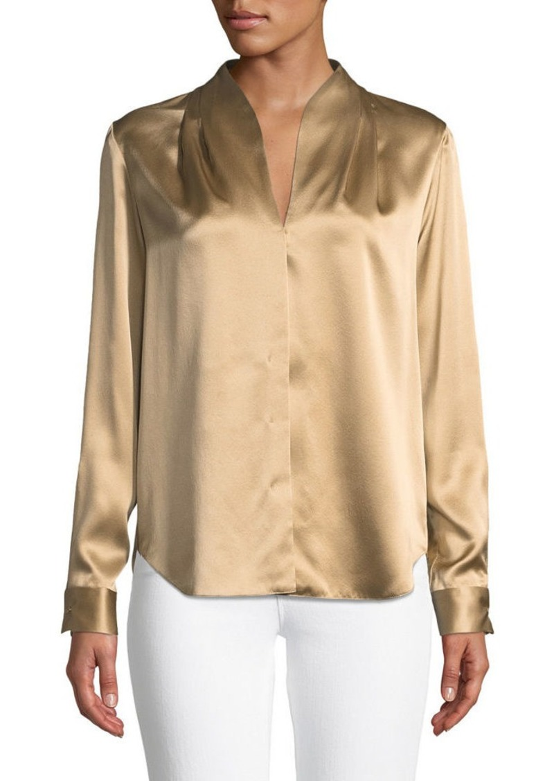 2d5de1d82ba7e Elie Tahari Elie Tahari Diya High-Neck Silk Blouse Now  104.00