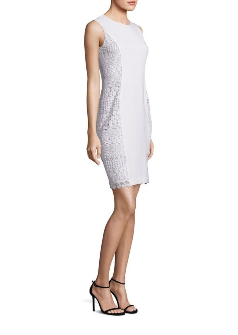 Elie Tahari Dora Sleeveless Lace Sheath Dress
