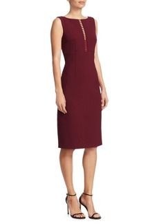 Elie Tahari Doreen Ladder Front Sheath Dress