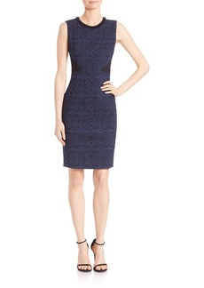 Elie Tahari Dorian Lace Applique Sheath Dress