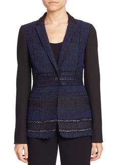 Elie Tahari Dorinda Tweed Blazer
