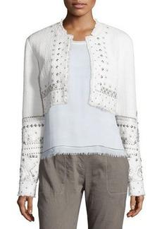 Elie Tahari Doris Embellished Cropped Jacket