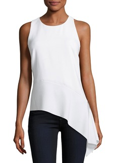 Elie Tahari Ebony Asymmetric Sleeveless Blouse