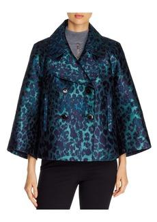 Elie Tahari Edna Leopard Jacquard Jacket