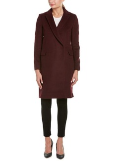 Elie Tahari Elie Tahari Reefer Wool-Blend Coat