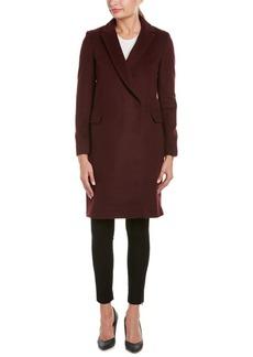 Elie Tahari Elie Tahari Reefer Wool-Blend Coat