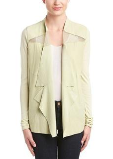 Elie Tahari Elie Tahari Suede-Silk Blend Jacket