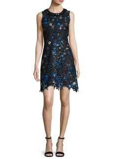 Elie Tahari Elisha Sleeveless Floral-Lace Dress