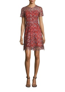 Elie Tahari Ella Lace Trim Dress