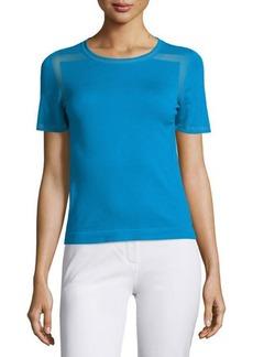 Elie Tahari Ellison Short-Sleeve Merino Sweater