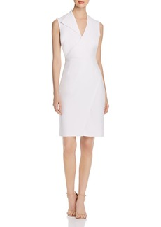 Elie Tahari Elodie Sleeveless V-Neck Sheath Dress